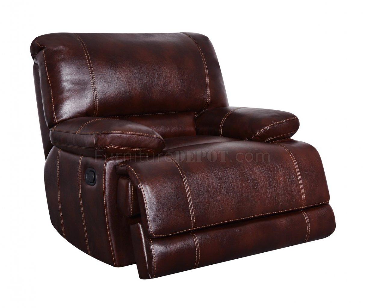 espresso bonded leather reclining sofa loveseat set for bay window u1953 in coffee global