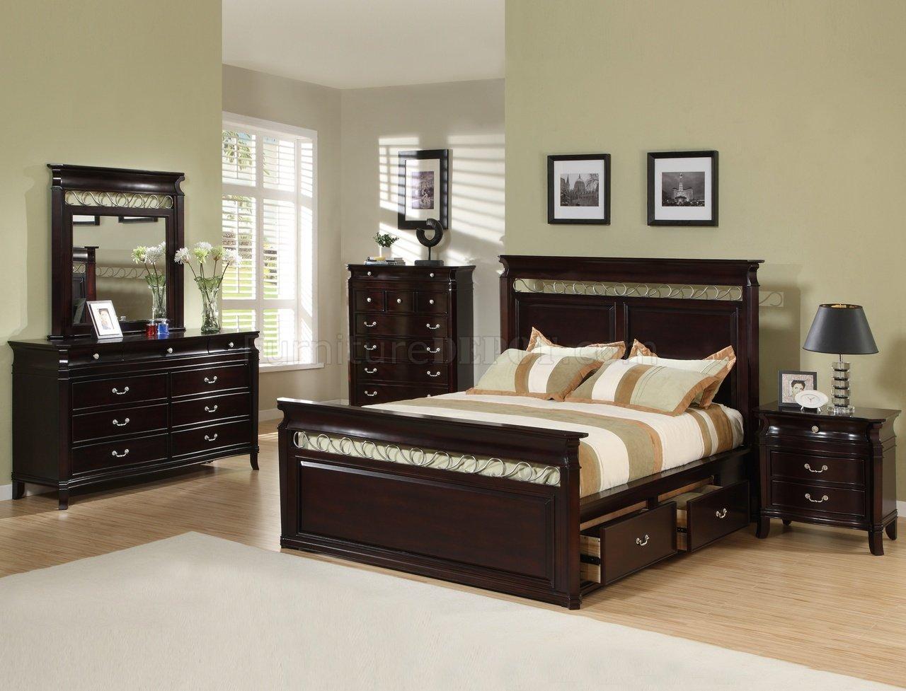 bedroom chair ideas caravan sports zero gravity reviews dark espresso finish contemporary w storage bed