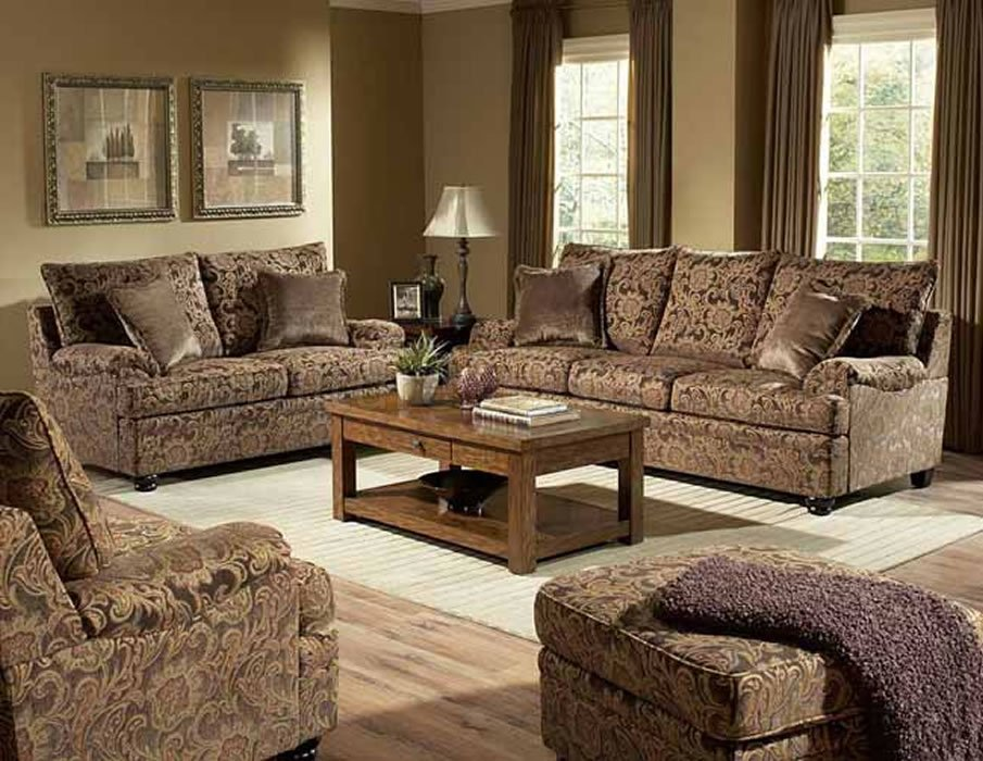 traditional sofa sets living room grey ideas uk rich floral chenille loveseat set
