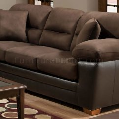 Accent Sofa Sets Bolster Pet Bed Brown Godiva Microfiber And Loveseat Set W Pillows