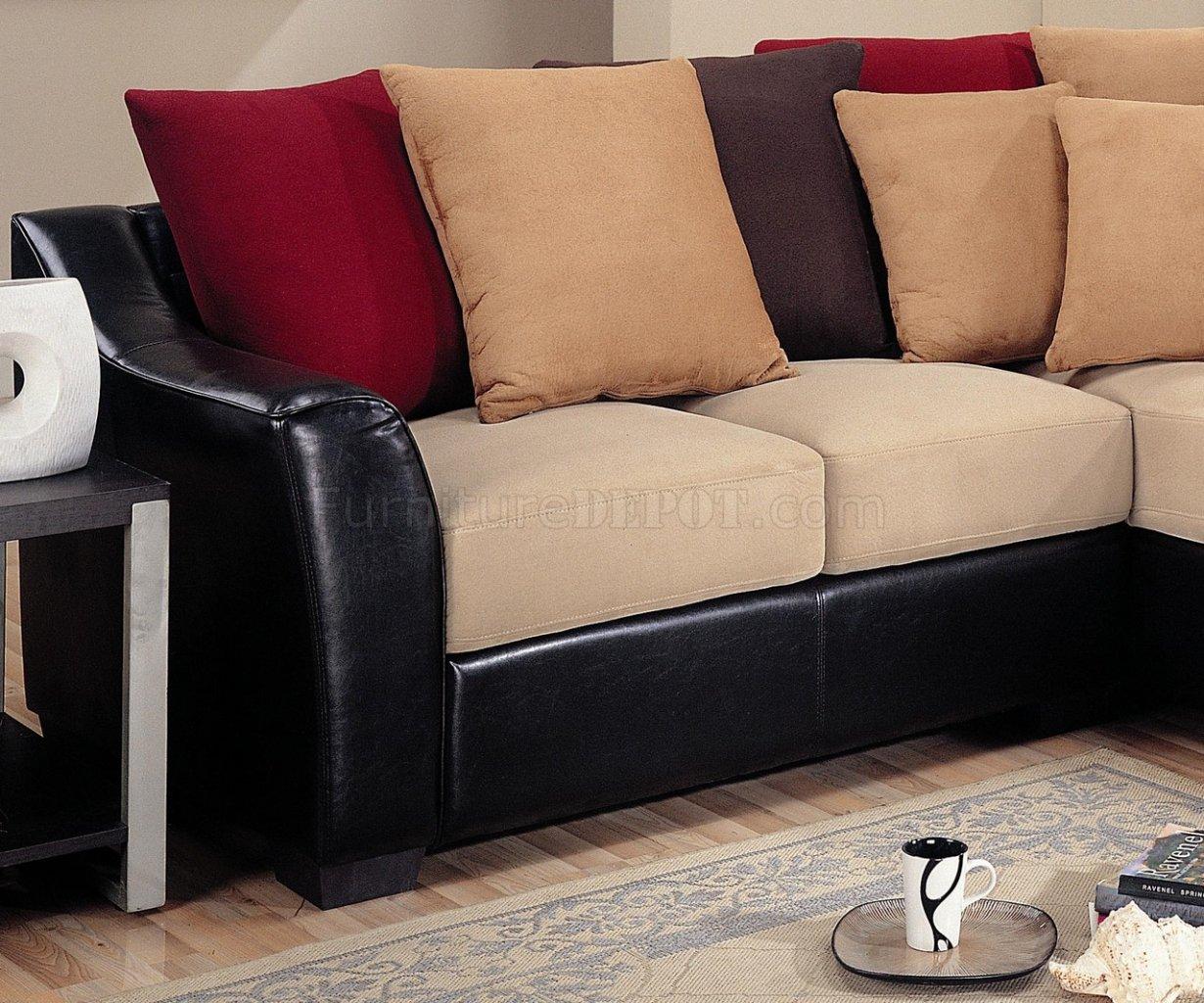 dark brown microfiber sofa reupholster cork modern sectional vinyl base 501895 beige