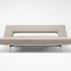 Contemporary Grey Sofa Bed Crate And Barrel Shelter Dimensions Fabric Convertible From Innovation