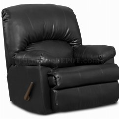 Modern Black Leather Recliner Chair Babies Sit Up Blended Comfortable