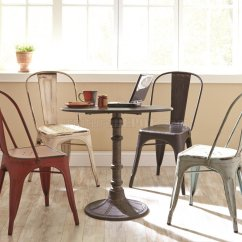 Steel Chair Dining Table Adjustable Height Office Oswego 5pc Set 100063 By Coaster W Metal Chairs