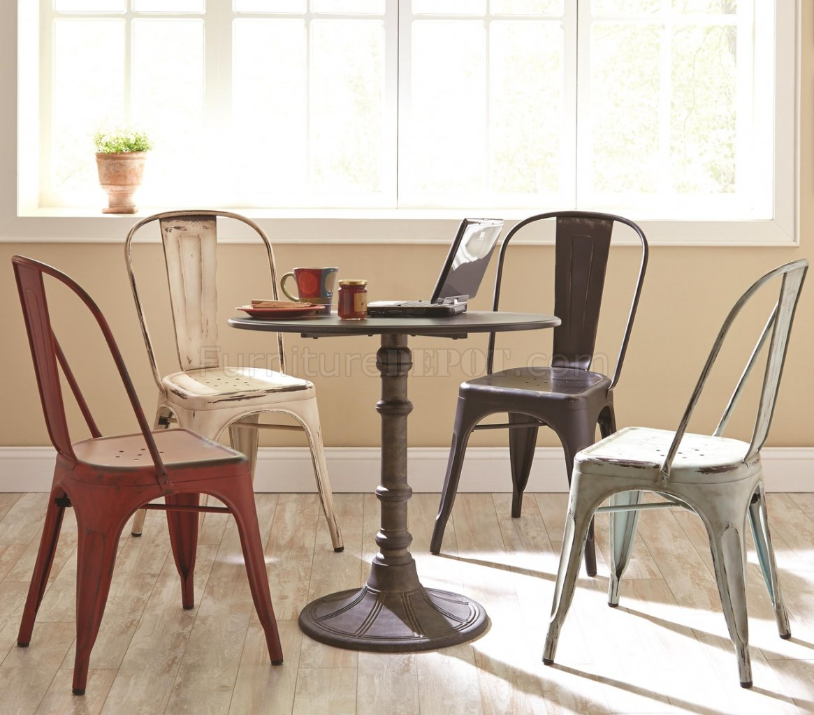 dining table with metal chairs make your own rocking chair oswego 5pc set 100063 by coaster w