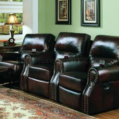 Theater Chair Accessories Nursery Rocking Chairs Australia Tri Tone Full Leather Home Seats W Recliners