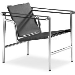 Le Corbusier Chair Deluxe Stadium Style Black Or White Genuine Leather Leisure