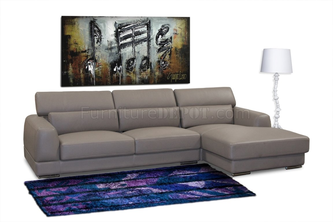 leather sectional sofa chicago cabin decor sleeper mink brown bonded modern