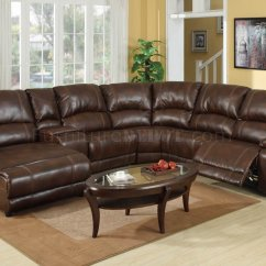 Sectional Reclining Leather Sofas Ashley Furniture Chocolate Sofa Wine Bonded Modern W Console