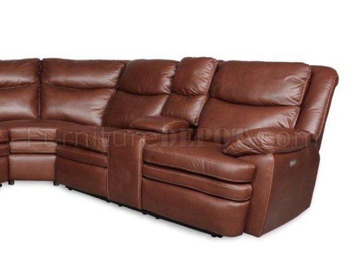 albany industries leather sofa reading bed 3149 power reclining sectional in cognac by