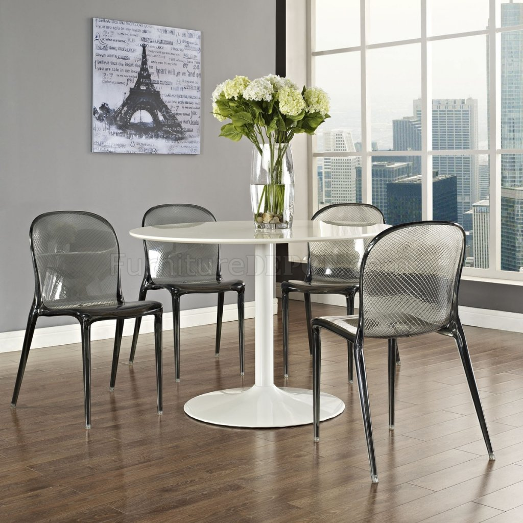 clear dining chair outdoor double rocking white seats 2 scape set of 4 in acrylic by modway