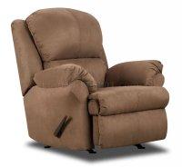 Camel Microfiber Reclining Sectional Sofa w/Throw Pillows