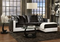 3001 Sectional Sofa in Black & White