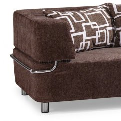 Brown Microfiber Sofa Bed On Sale Sofas Convertible Sectional W Ottoman