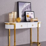 131 Hallway Console Table In White Gold By Esf
