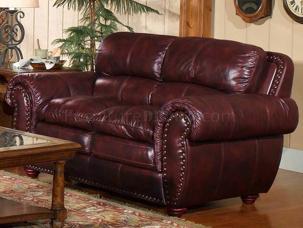 modern leather living room sets replacement cushions for furniture italia classic merlot vail sofa & loveseat set w ...