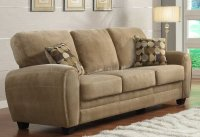 Rubin Sofa 9734BR by Homelegance in Light Brown w/Options