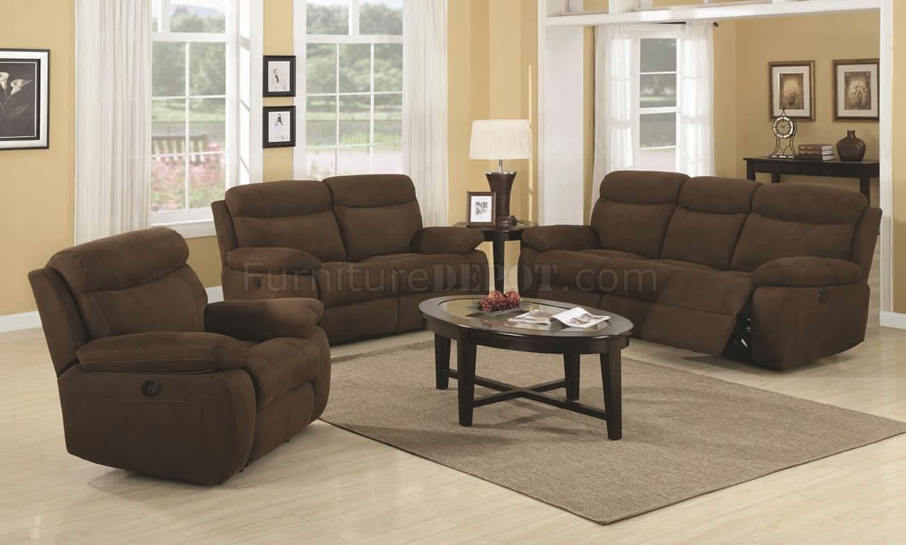 motion sofa set lee industries sofas brown padded microfiber modern and loveseat