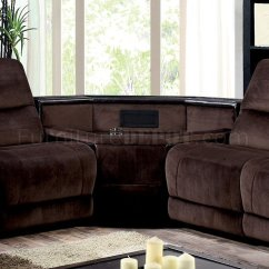 Leather Sofa Sets For Living Room Shelves Decor Glasgow Reclining Sectional Cm6822 In Brown Microfiber