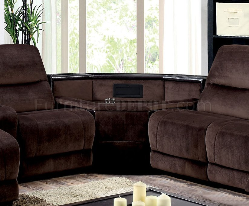 modern sofas furniture sets sofa batting glasgow reclining sectional cm6822 in brown microfiber