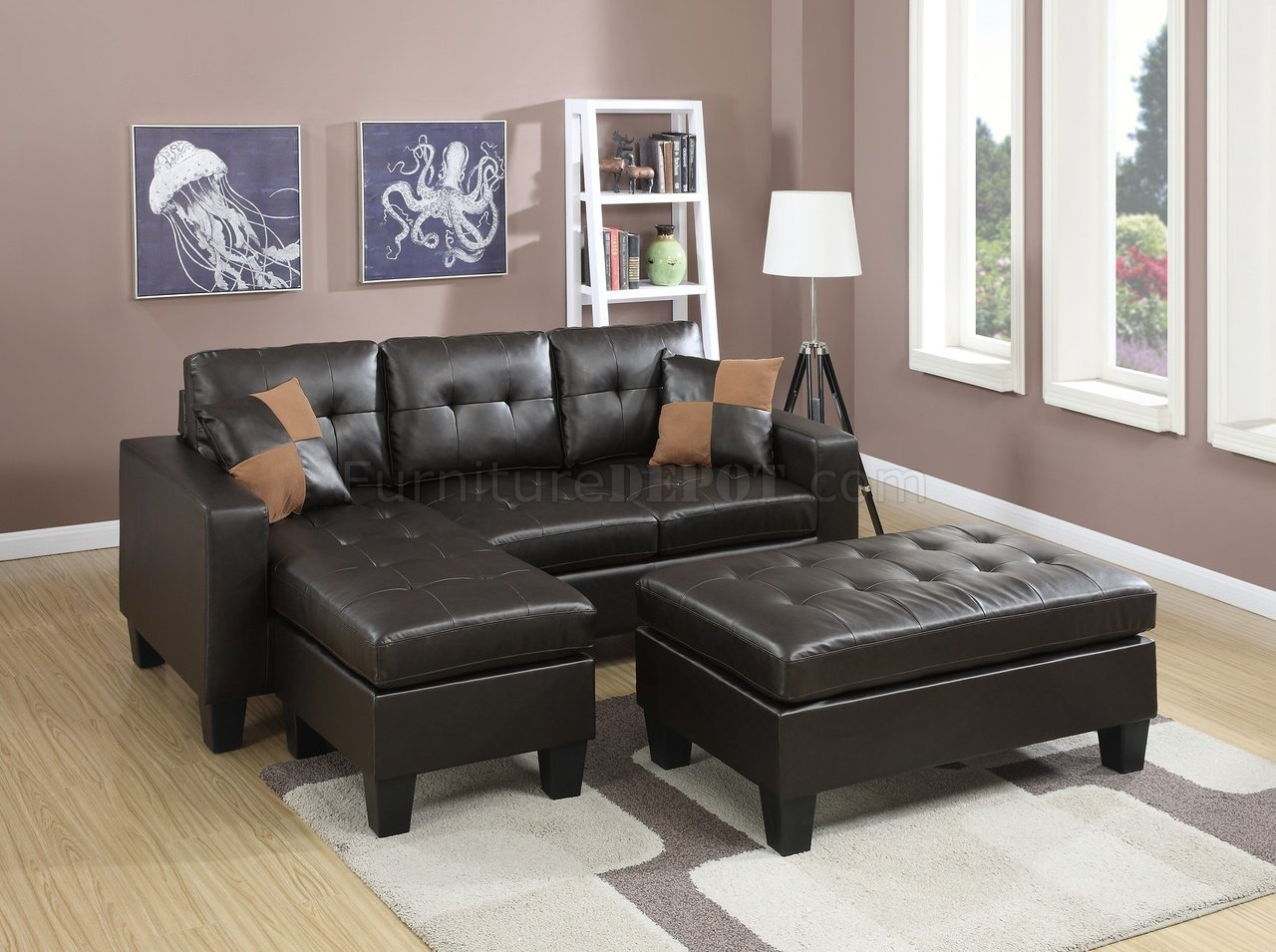espresso bonded leather reclining sofa loveseat set inflatable aldi f6927 sectional in by boss