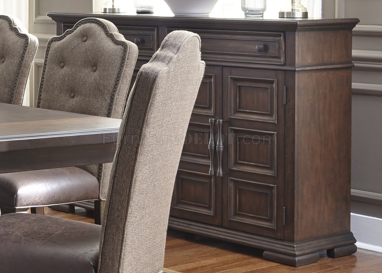 Lucca Dining Table 7Pc Set 535DR in Cordovan Brown by Liberty