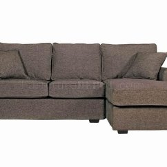 Small Loveseat Sectional Sofa Bed With Chaise Slipcover Contemporary In Charcoal Fabric
