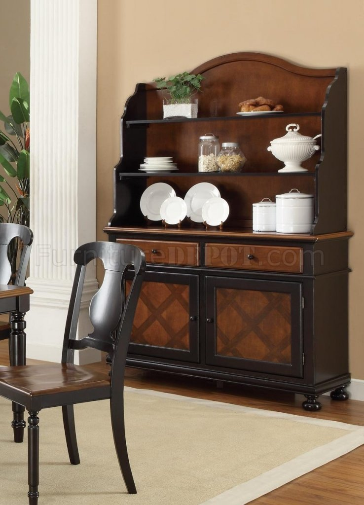 104194 Connor Buffet W Hutch By Coaster In Two Tone Finish