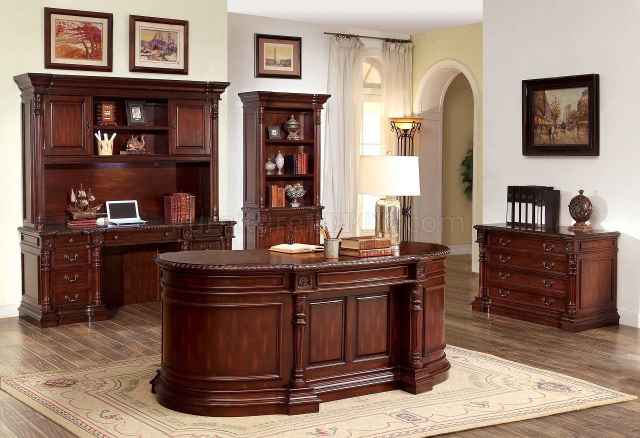 Roosevelt CMDK6252OD Oval Office Desk in Cherry wOptions