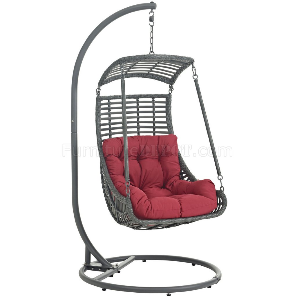 hanging chair for bedroom target covers sale in china jungle outdoor patio swing by modway choice of color