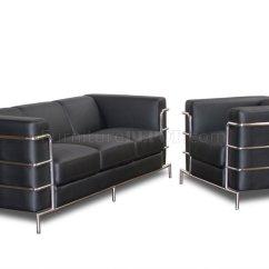 Sofa Steel Cheap Leather Sets Toronto Black Bonded Modern Citadel Set W
