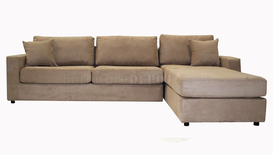 Microfiber Sectional Sofa with PullOut Bed