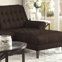 Natalia Leather And Chenille Sofa Dog Cover For Sectional 503778 In Black Fabric By Coaster
