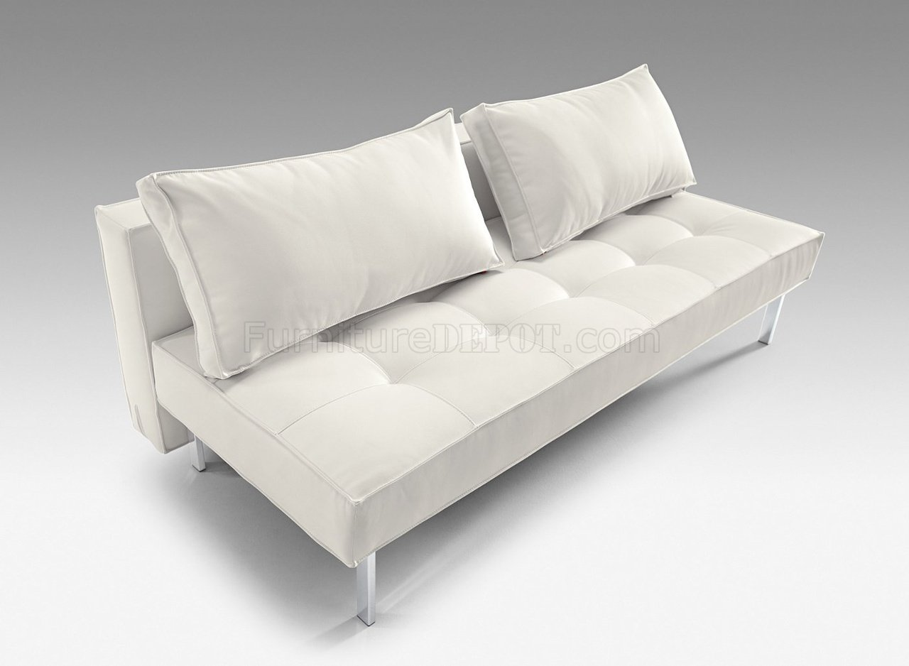 modern convertible sofa with pull out bed good quality comfortable beds white or black full leatherette
