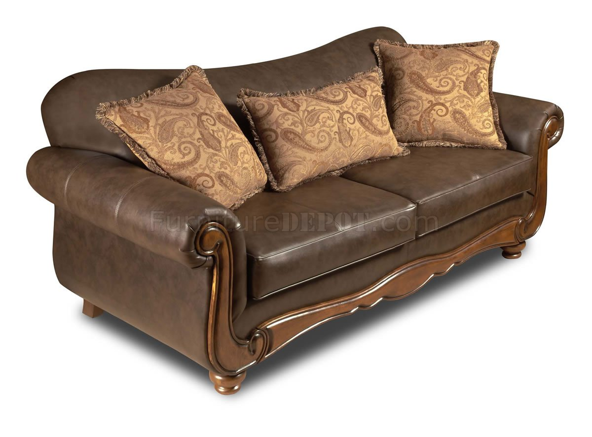 traditional leather sectional sofas toddler sofa chair south africa brown bonded and loveseat set w options