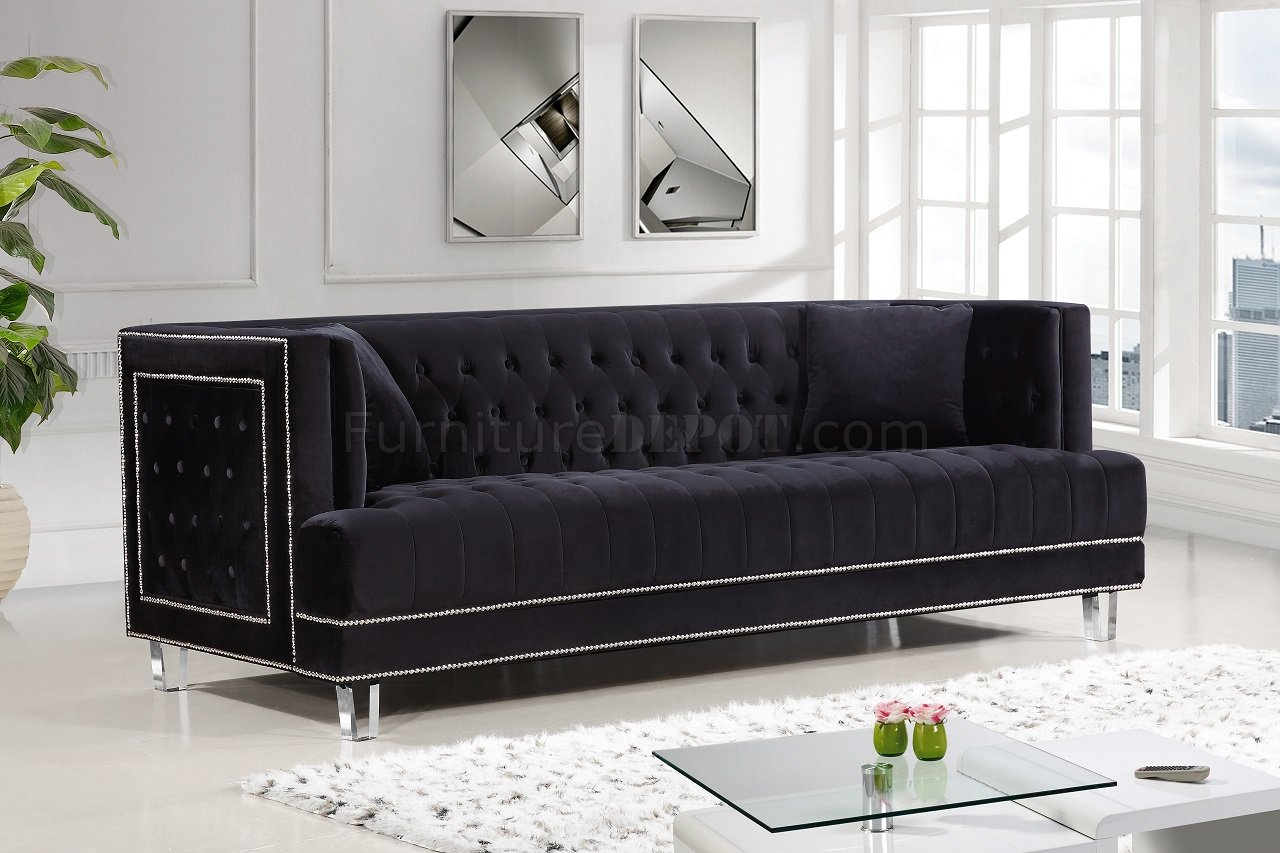 black velvet sofa living room low profile red leather lucas 609 in fabric w options