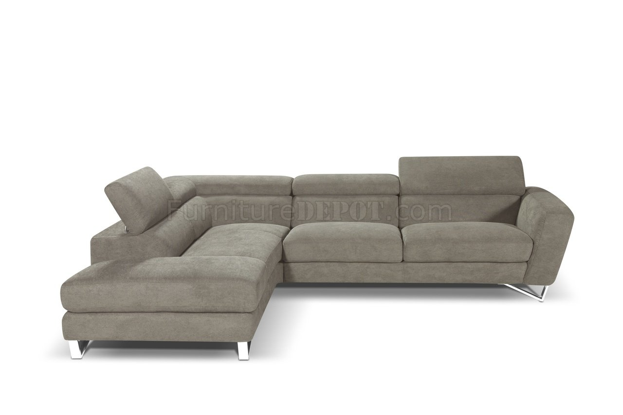 spartan sofa cheap dog beds sparta sectional in fabric by j andm w stainless steel legs