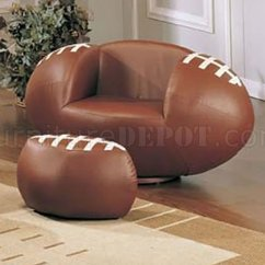 Swivel Club Chair Crate And Barrel Folding Chairs Kid's Sport With Football Ball Shape