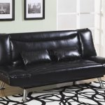Faux Leather Modern Convertible Sofa Bed 300144 Black