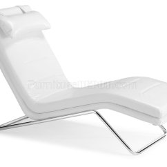 Leatherette Sofa Durability Jennifer Convertibles Sleeper White Modern Chaise Lounger W/chromed Steel Frame
