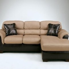 Discontinued Ashley Sofa Tables Cheap Sofas London 51201 Mocha Fabric Small Sectional W/faux ...