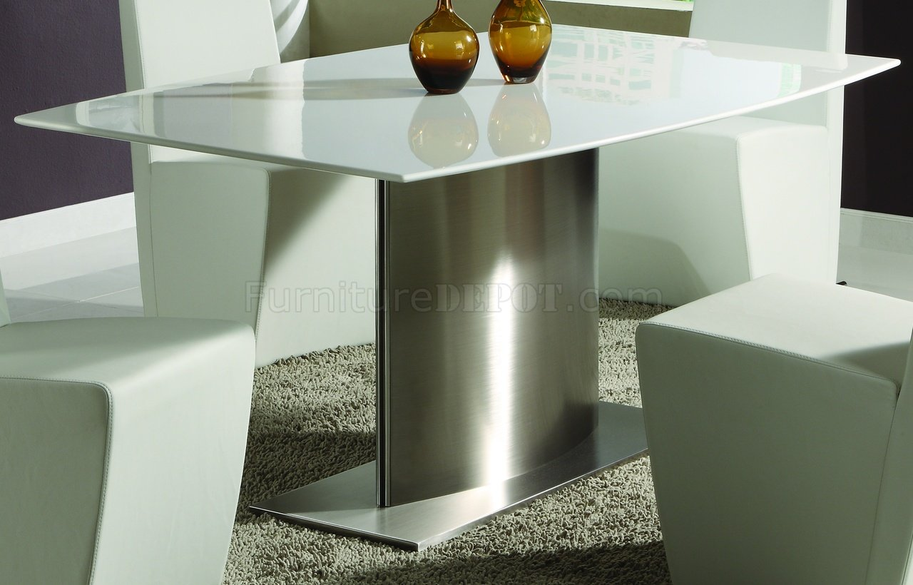 Modern Dining Room Table WWhite Marble Top Amp Steel Base