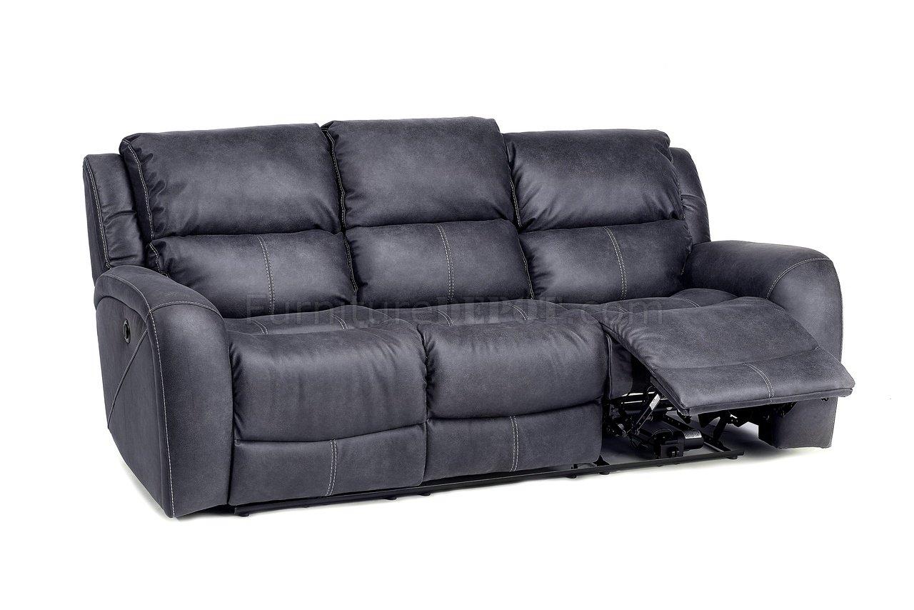 gray microfiber power reclining sofa sleeper katy tx octavio motion and loveseat in grey by