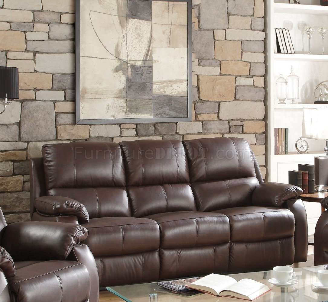 acme sectional sofa chocolate will my fit through the door calculator enoch 52450 motion in dark brown by w options