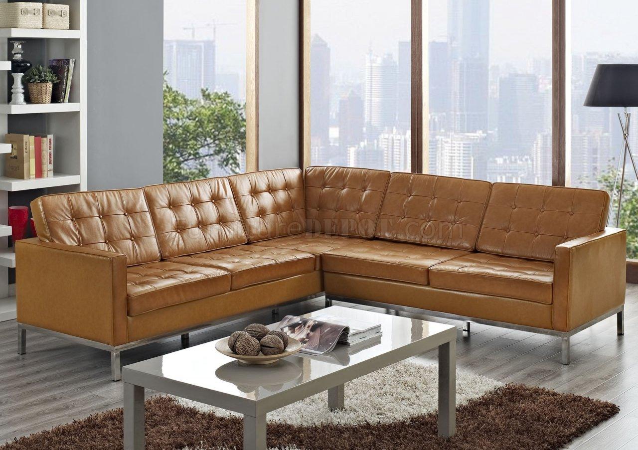 loft l shaped sectional sofa in tan