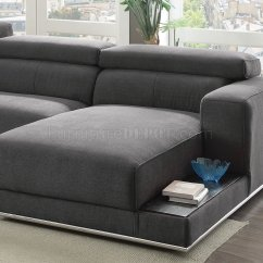 Sofa Headrest Mattress Protector For Sleeper Alwin Sectional 53720 In Dark Gray Fabric By Acme W ...