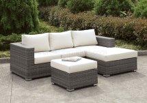 Somani Cm-os2128-15 Outdoor Sectional Sofa & Ottoman Set