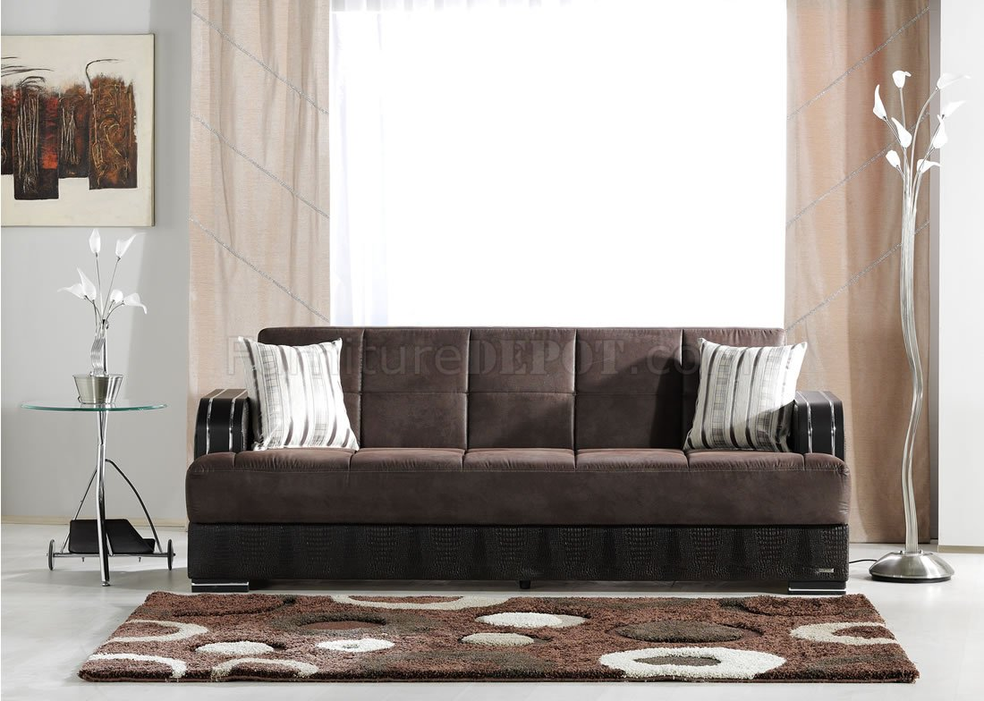 aria fabric modern sectional sofa set with chaise and recliner elegant two-tone living room storage sleeper