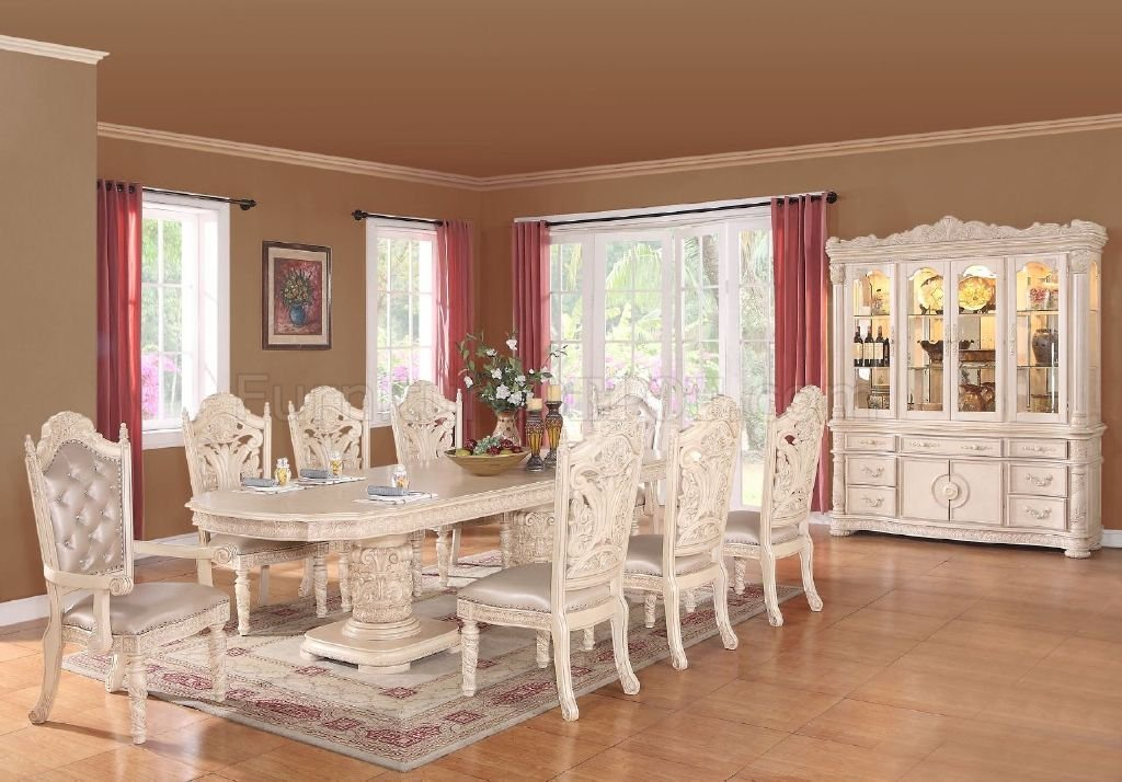 antique white dining chairs desk chair floor mat bethany table in style w options