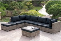 Outdoor Patio 7pc Sectional Sofa Set Poundex Withoptions